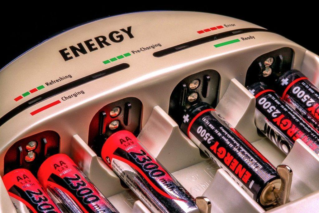電池を交換充電